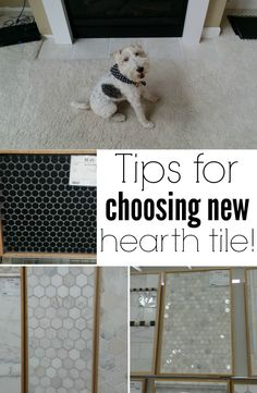 Tips for choosing new hearth tile. An easy upgrade!