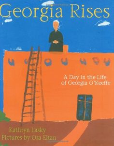 Inspired by Georgia O'Keeffe's own descriptive letters, awardwinning author Kathryn Lasky imagines a day in the life of this legendary artist at her Abiquiu, New Mexico, home. Before the first shades of lavender color the morning sky, Georgia rises – eager to walk the rust red hills and discover images that she will later paint: a bone glowing white, the black wings of a raven against the gray sky, a slice of silver moon.