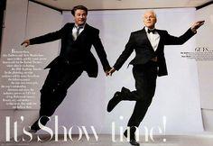 My two favorite men by Annie Leibovitz