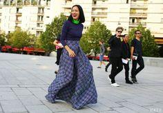 Street Style Paris Fashion Week Spring 2014 #Justyou #Vogue #PFW