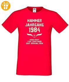 Sprüche Motiv Fun T-Shirt Geschenk zum 32. Geburtstag Hammer Jahrgang 1984 rot (*Partner-Link)