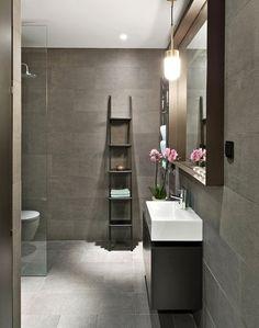 Elegáns grafitszürke fürdőszoba