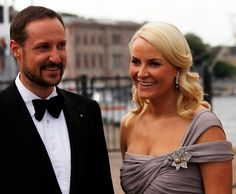 Crown Princess Victoria: Crown Princess Mette-Marit at private dinner at Drottningholm Palace