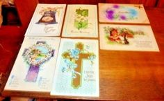 Antique Vintage Easter Postcards Mixed Lot of 6 Early 1900s  Group A #Easter