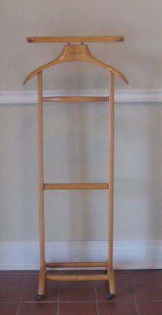 herrendiener kirschbaumfarben stummer diener kleiderst nder kleiderbutler d30669 ebay. Black Bedroom Furniture Sets. Home Design Ideas