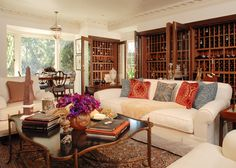 @timothycorrigan Shared this living room-wine room with us - we would like to move in NOW!  Living room design by Timothy Corrigan photo by Eric Piasecki