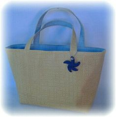 Bolsa de praia Double face — azul e amarelo