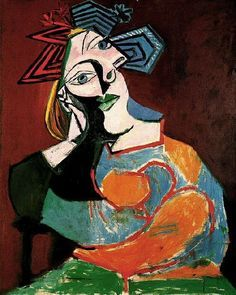 Pablo Picasso. Femme accoudee. 1937 year