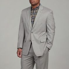@Overstock - This handsome light grey suit from Michael Kors features a two-button coat with a notched collar and single vent. Crafted of pure wool, this suit features flat-front trousers, unhemmed for easy customization. http://www.overstock.com/Clothing-Shoes/MICHAEL-Michael-Kors-Mens-2-button-Light-Grey-Wool-Suit/6495901/product.html?CID=214117 $134.99