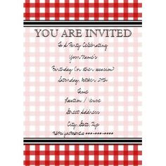 Picnic wedding invites. Obviously change the color to suit you