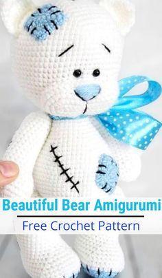 Free Teddy Bear crochet pattern - Amigurumi Today | 404x236