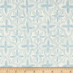Screen printed on a lightweight cotton duck, this fabric features a natural slub and is perfect for window treatments (draperies, valances, curtains, and swags), bed skirts, duvet covers, pillow shams, accent pillows, slipcovers and bedding. Colors include light blue and ivory.
