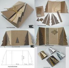 44 Ideas Diy Paper Folding Xmas Trees For 2019 Diy Paper Christmas Tree, Homemade Christmas Cards, Homemade Cards, Handmade Christmas, Xmas Trees, Tarjetas Diy, Christmas Crafts, Christmas Decorations, Shaped Cards