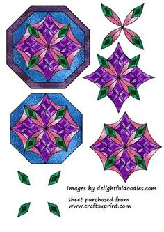Blue Stained Glass Mandala on Craftsuprint - Add To Basket!