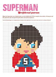 strijkkraalpatroon superman
