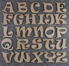 Ravie Font Alphabet Set or Plywood Capital Letters A-Z 26 Characters Hand Lettering Alphabet, Cool Lettering, Wooden Alphabet, Wooden Letters, 26 Letters, Lower Case Letters, Japanese Poster, Letter A Crafts, Monogram