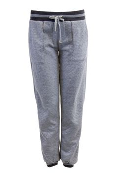 Heather Grey Quilted Drawstring Joggers