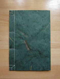 Japanese Stab Binding Journal / Book - Green Pulp. via Etsy.