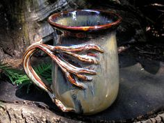 Tree  mug for the nature lover, 18 oz. capacity,  tea mug , coffee mug, handmade mug