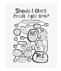 "Like John Mellancamp has always said, ""Email...hurts so good."" Display this flowchart in your office/studio/cubicle/office suite to remind you of what you alrea"