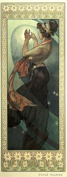 The Moon and the Stars: Pole Star (1902)  Alphonse Mucha
