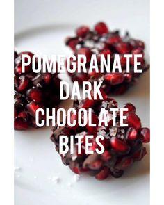 Pomegranate Dark Chocolate Bites
