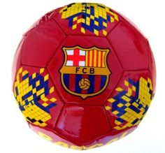 "Amazon.com : Beautiful Red FC Barcelona BARCA ""Mosaic"" Size VERY HIGH QUALITY Size 5 Soccer Ball - Licensed FC Barcelona Merchandise. : Spor..."