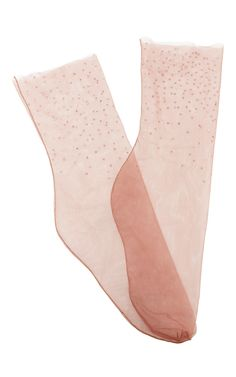 M'o Exclusive: Swarovski Embellished Socks by BROTHER VELLIES for Preorder on Moda Operandi