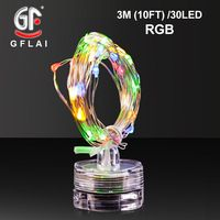 LED String Lights Copper Wire 3M 7FT 30 Green Light Battery Powered Indoor Table Party Decoration 6 Pcs/Lot Free Shipping Now