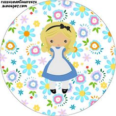Alice no País das Maravilhas Fofinha - Kit Completo com molduras para convites, rótulos para guloseimas, lembrancinhas e imagens!