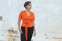 Orange top by Troll2Treasure on Etsy