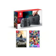 Nintendo Switch Legend of Zelda Breath of the Wild & Mario Kart 8 Deluxe Bundle, Multicolor