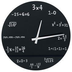 Reloj de pared de cristal - Matemáticas - Reloj de Pared por Reloj de pared de cristal - Matemáticas