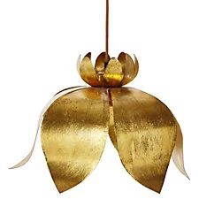 Jasmin Lotus Pendant, Gold Leaf; $350