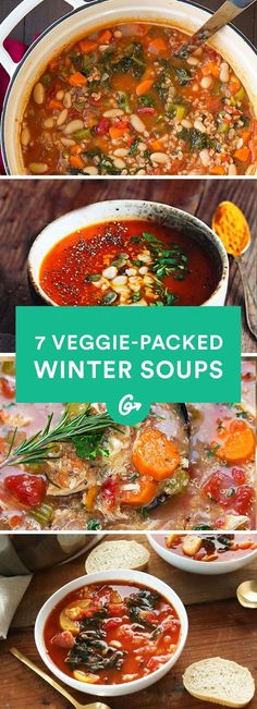 Hearty. Healthy. Veggie Packed. #healthy #soup #recipes http://greatist.com/eat/winter-soup-recipes: