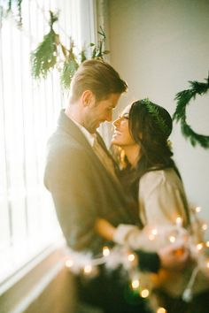 Love this for a Holiday Shoot Salt Lake City, Utah Holiday Engagement Inspiration Shoot from Brooke Schultz Photography
