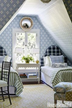 5 Relaxing Hacks: Attic Organization How To Build attic bedroom kids.Attic Wood Couch attic before and after bedroom suites. Attic Bedrooms, Guest Bedrooms, Cottage Bedrooms, Beautiful Bedrooms, Beautiful Homes, House Beautiful, Awesome Bedrooms, Beautiful Gorgeous, Home Interior