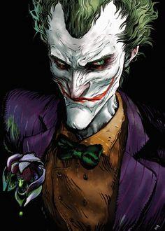 Bat Joker, Joker Arkham, Joker Pics, Joker Art, Joker And Harley Quinn, Joker Dc Comics, Joker Comic, Dc Comics Art, Batman The Dark Knight