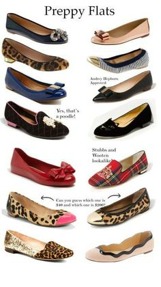 #Preppy Flats...most of these