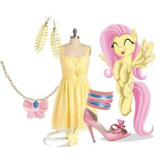 Fluttershy Inspired outfit.