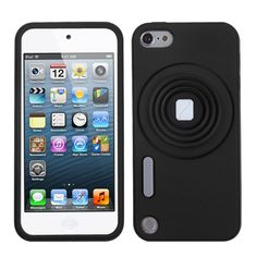 Do you love black?Do you want to protect your iPod Touch 5 with a Black/ White Camera Style Stand Pastel With Lanyard?If so, check it out!