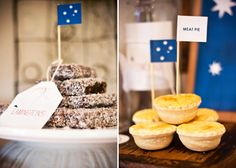 lamingtons and meat pies Australian Sweets, Australian Party, Australia Day Celebrations, Aus Day, Happy Australia Day, Aussie Food, Australia Animals, Anzac Day, Holiday Recipes