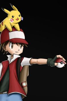 Pokemon Anime - Red - Pikachu - Gotta Catch Em All - Fan Art