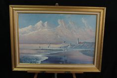 Seascape Print August Holland From Sea To Shinning Sea Seagulls Lighthouse COA #Gifts