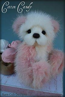 teddy bear Cotton Candy - By Helen Gleeson Bare Cub Designs