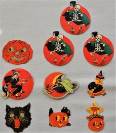 Vintage Lot of 10 Halloween Stickers – Beistle?