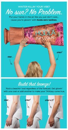 Fake a weekend getaway with our hoola zero tanlines body bronzer!