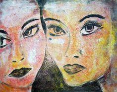 Acrylbild '2 Frauen' - Angelika Rump
