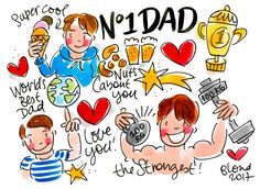 Number one Dad! Vaderdag 2017 by Blond-Amsterdam Dad Day, Mom And Dad, Self Care Bullet Journal, Blond Amsterdam, Watercolor Fashion, Love Me Quotes, Princess Wedding Dresses, Number One, Dads
