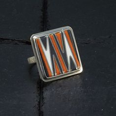 Items similar to Cloisonne Enamel Ring - Cocktail Ring - Statement Unique Ring - Abstract Ring - size Ring - Orange Gray White Ring - Handmade Ring on Etsy Unique Gifts, Best Gifts, Orange Grey, Enamel Jewelry, Beautiful Gifts, Cocktail Rings, Gifts For Mom, Esty, Color